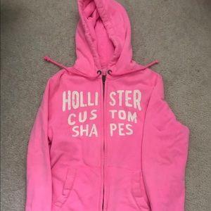 Pink Hollister Jacket/sweatshirt